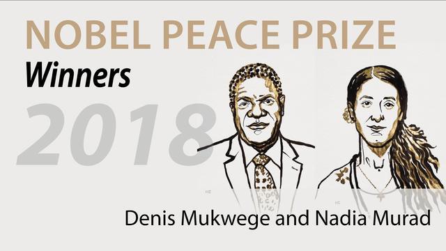 Nobel Peace Prize Winners 2018 Denis Mukwege and Nadia Murad