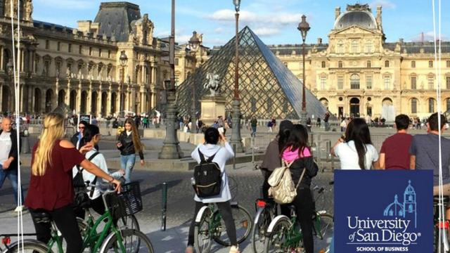 USD students sightseeing at the Louvre in Paris, France