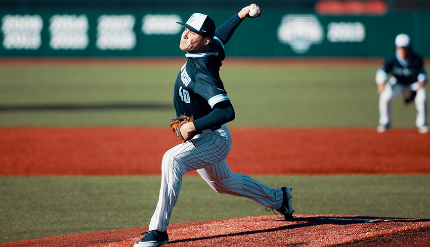 Jack Dolak struck out 10 in six innings and allowed no hits enroute to a 2-0 USD victory over Cal Baptist on March 11.