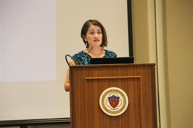Rosy speaks at LIFE Week event