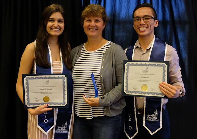 Melinda Sevilla, Dr. Kristin Moran, Kevin Do
