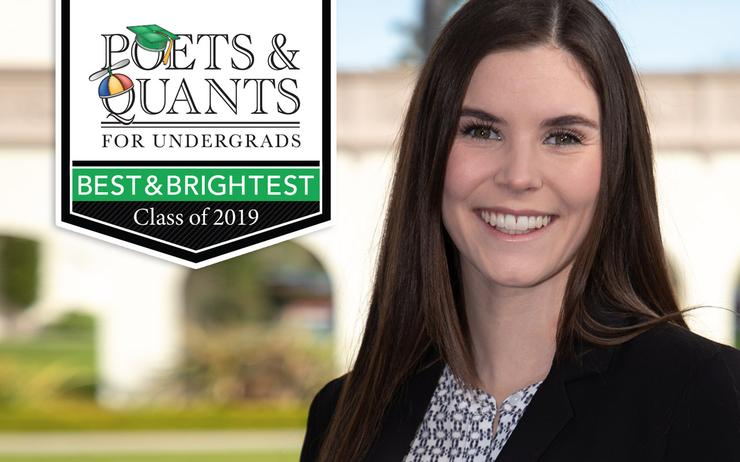 Becca Lancaster '19, USD student featured among the Poets & Quants 'Best and Brightest' List