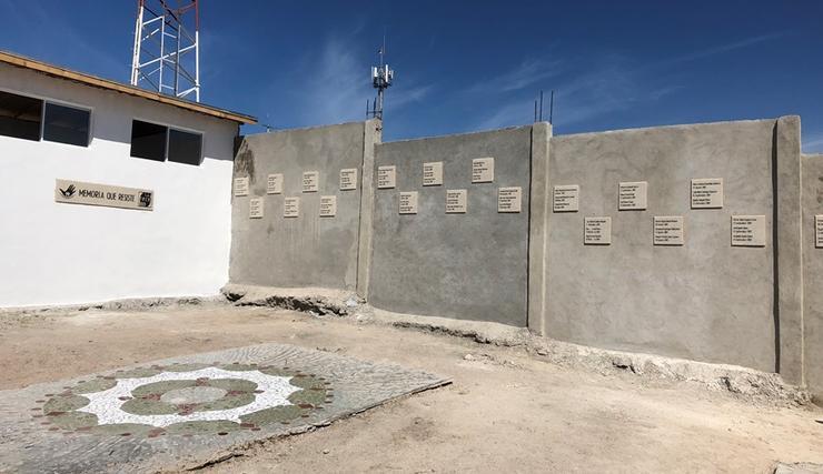 Memorial for the disappeared in Ejido Maclovio Rojas