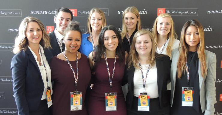 USD has nine students participating in The Washington Center's seminar in Philadelphia.