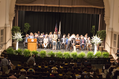 Honors Convocation photo in Shiley