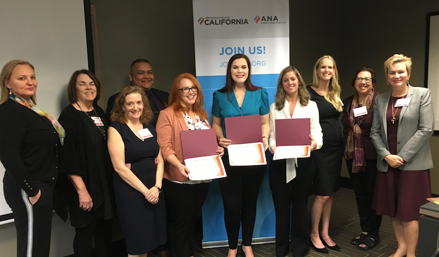 Olivia Kearnes, Janelle Bird and Alexandra Pochop (standing in for her husband Steven Pochop) were present to receive the letter of appreciation at the ANACA membership assembly on Nov. 9.