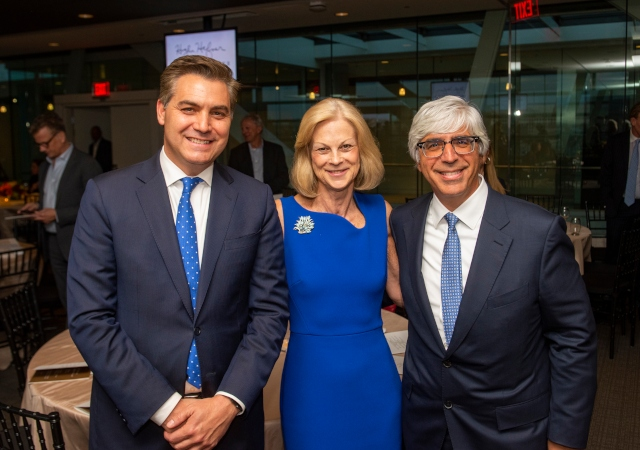 Jim Acosta, Christie Hefner and Ted Boutrous