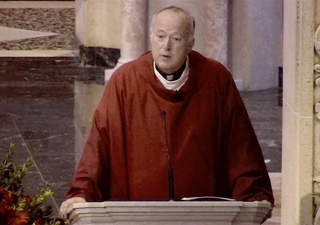 Video Screen Capture of Bishop Robert McElroy