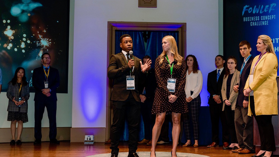 USD School of Business Carl-Olivier Dumesle and Bria d'Amours Succeed in the Fowler Business Concept Challenge