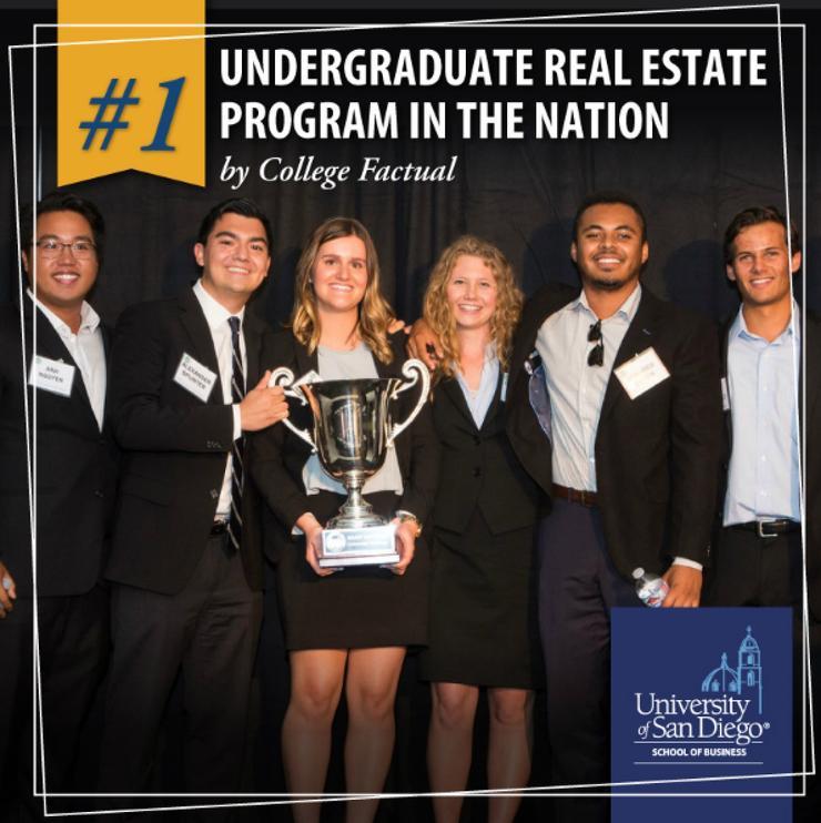 University of San Diego Real Estate Program Ranks #1 in U.S.