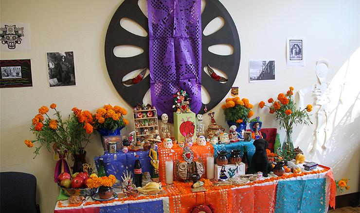 USD will honor the Feast of All Saints (Nov. 1), Feast of All Souls (Nov. 2) at Masses, and Dia de los Muertos (Nov. 1-2) will be honored via an exhibit and talk. This exhibit is from 2012.