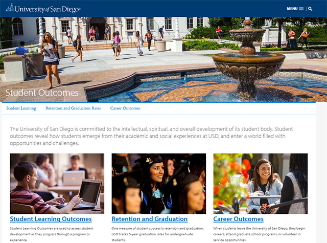 Student Outcomes website
