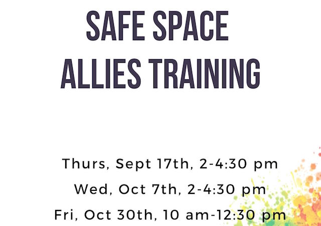 Safe Space Allies Training Flyer