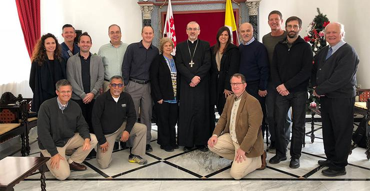 USD faculty members spent part of their January Intersession on a trip to the Holy Land via a Frances G. Harpst Center for Catholic Thought and Culture Faculty Travel Immersion Seminar.
