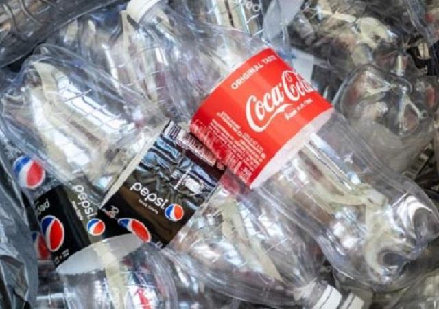 empty plastic soda bottles