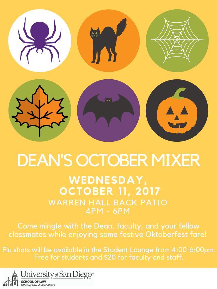 Dean's October Mixer Flyer