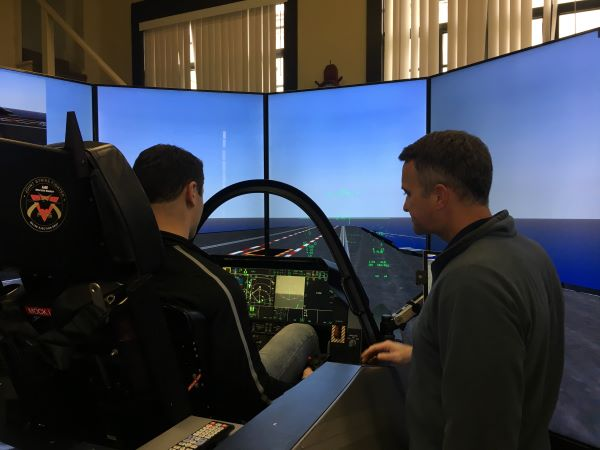 MIDN 2/C Malloy learns about operating the F-35 flight demonstrator.