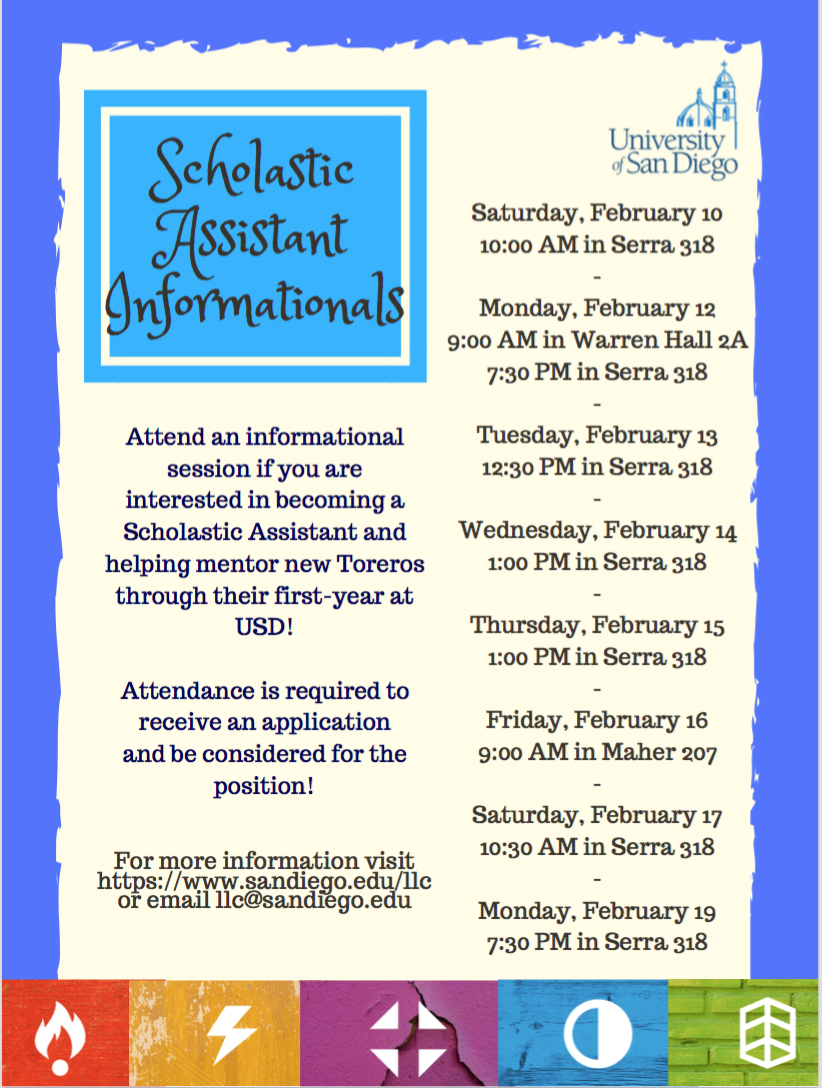 Attend an informational session until Feb. 19th!