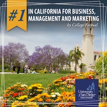 #1 college in California for business, management and marketing