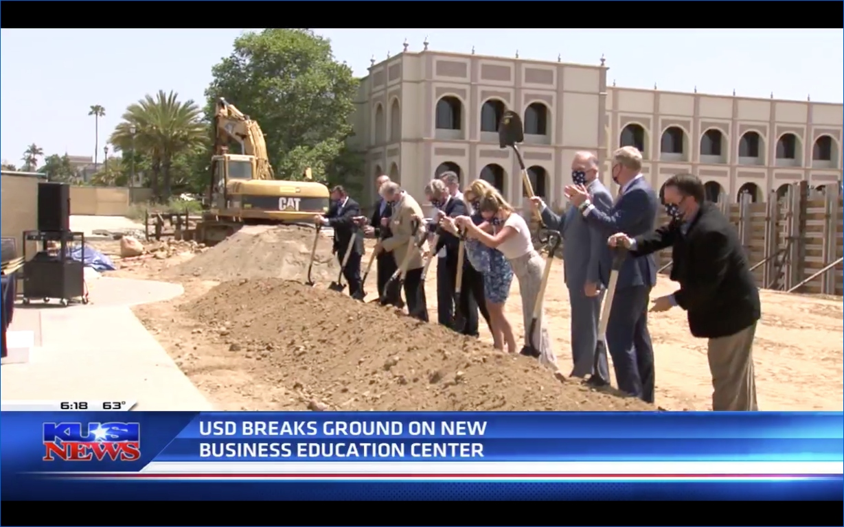 USD School of Business Breaks Ground on the Knauss Center for Business Education