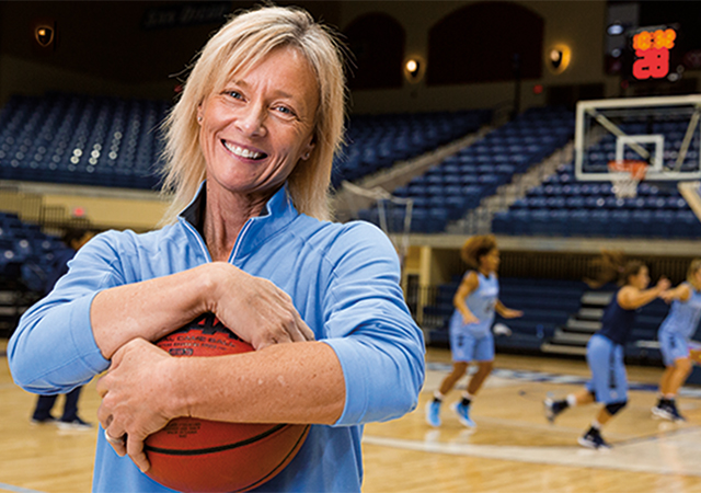 Women's Basketball Head Coach Cindy Fisher was feted for 15 years at the helm after Saturday's big win over BYU.