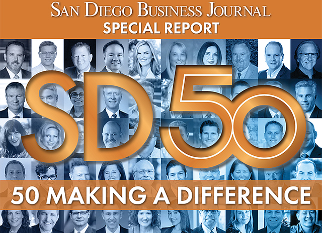 "USD President James T. Harris and seven USD alumni recognized by SD Business Journal's ""SD 50 Making a Difference"" during COVID-19"