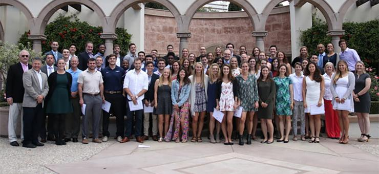 Sixty USD Student-Athletes were honored for their academic achievements at the President's Luncheon on May 17.
