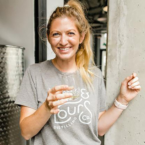 Laura Johnson, USD alumna and Founder and Distiller at You & Yours Distilling Co.