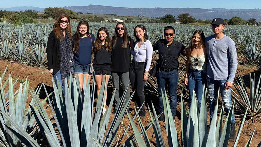 USD School of Business SIBC student team in Tequila, Mexico