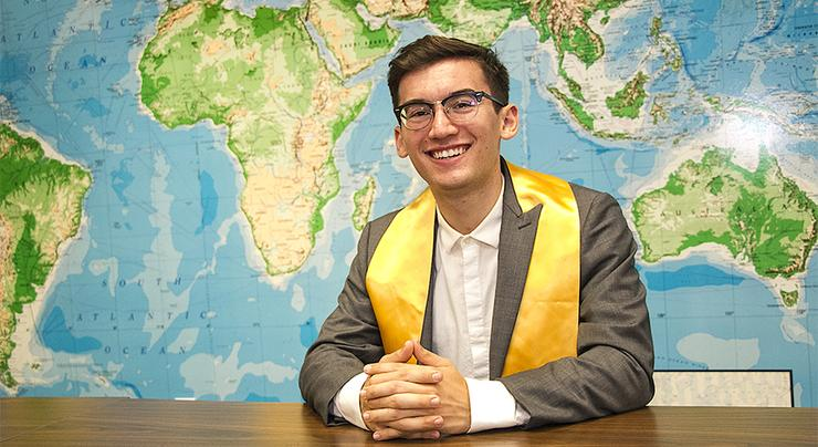 Graduating senior and 2018-19 University Communications intern, Michael Bennett, reflects on his four-year journey as a USD student. His next stop is the Peace Corps in the Republic of Moldova.