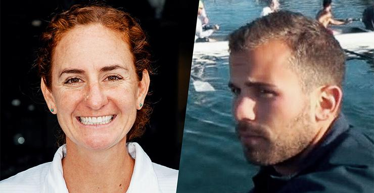 USD has named new head coaches for its women and men's rowing programs, Stesha Carlé (W) left, and Ben Hise (M).