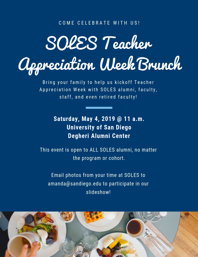 Teacher Appreciation Brunch Flyer