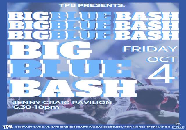 Big Blue Bash Flyer