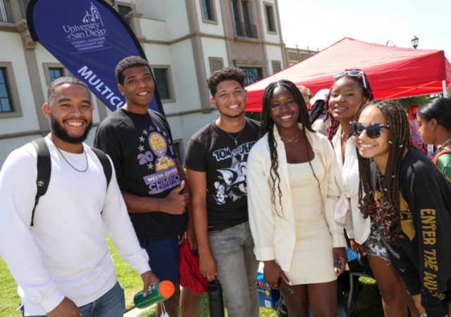 Students from the United Front Multicultural Center extend a warm welcome to our newest Toreros.