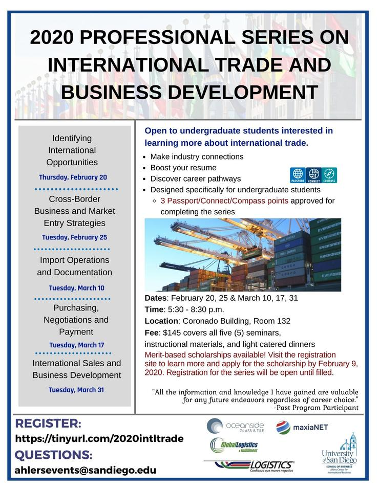 2020 International Trade Flyer
