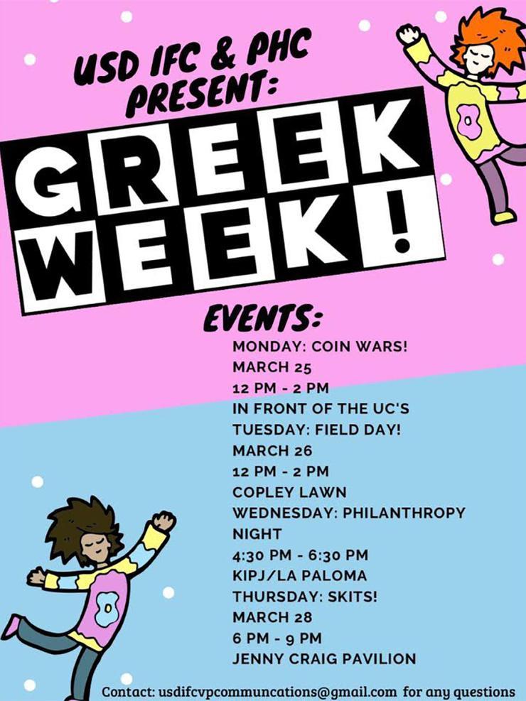 Greek Week 2019 events