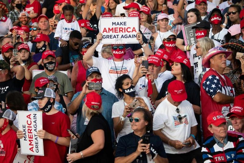 Supporters of US President Donald Trump at a rally in Florida