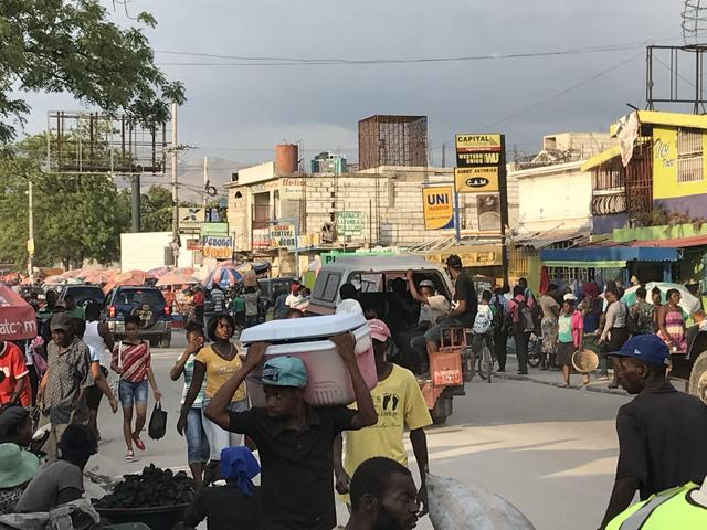 A busy marketplace in Haiti.