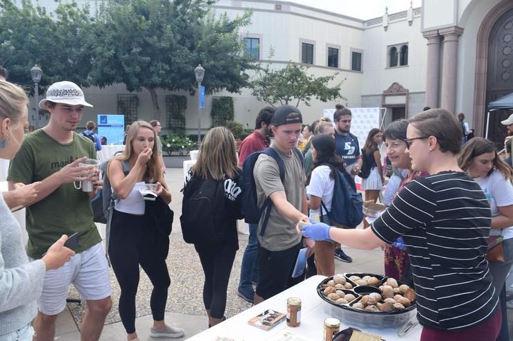 Students at Social Enterprise Food Fest