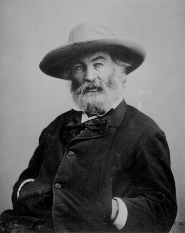photo of Walt Whitman seated