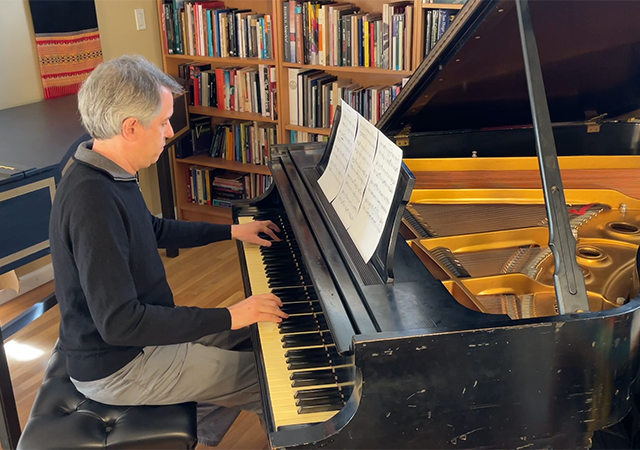 Christopher Adler Playing Piano