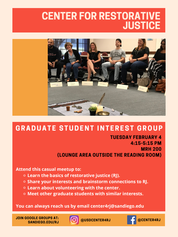 Flyer for the Graduate Student Interest Group