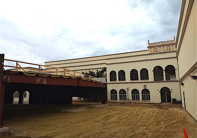 Loma Hall Annex construction