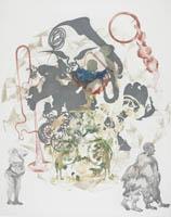 Shahzia Sikander Orbit, 2012 Color direct gravure Print Collection, U