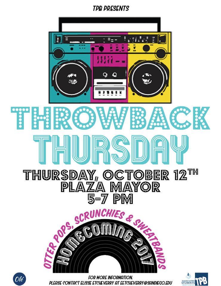 Throwback Thursday Flyer