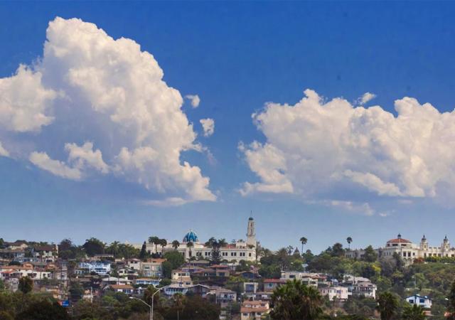 The USD campus in Linda Vista, at a distance. (Credit: John Gibbins/U-T)