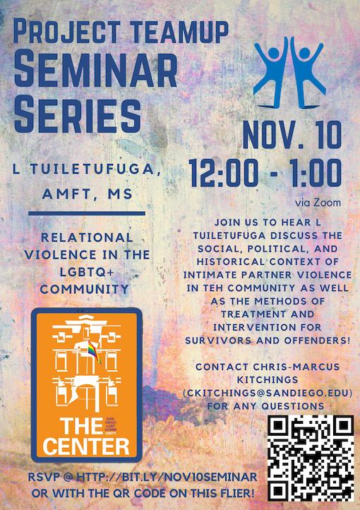 November Seminar Series Flyer