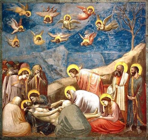 Lamentation by Giotto di Bondone in the Scrovegni Chapel, c. 1305