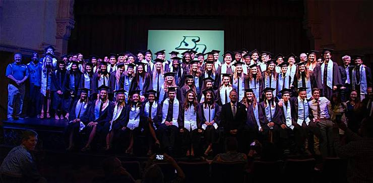 Several USD student-athletes are part of the impressive Class of 2017. The university's graduation ceremony took place on May 28 in the Jenny Craig Pavilion.