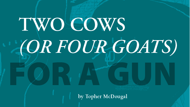 Two Cows (or Four Goats) for a Gun